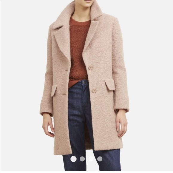 Kenneth Cole-Tailored Wool Coat in Blush Pink